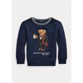 Coffee Polo Bear Fleece Sweatshirt