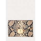 Python-Print Leather Pouch