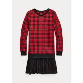 Buffalo Check Terry Sweatshirt Dress