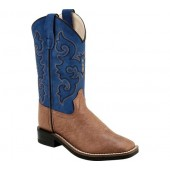 Old West Broad Western Square Toe Boot - Child