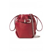 Burgundy Belty buckled leather belt bag
