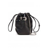 Black Belty buckled leather belt bag